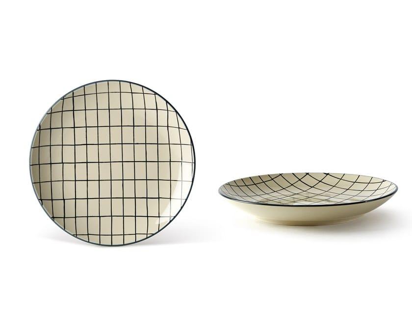 Porcelain stoneware dinner plate GEOMETRIE 2 | Dinner plate by Fill