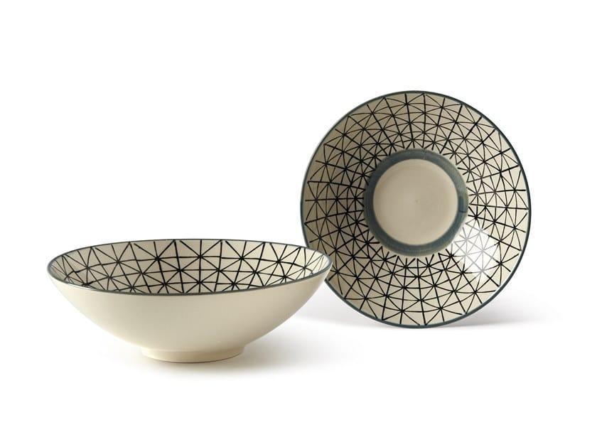 Porcelain stoneware serving bowl GEOMETRIE 3 | Serving bowl by Fill
