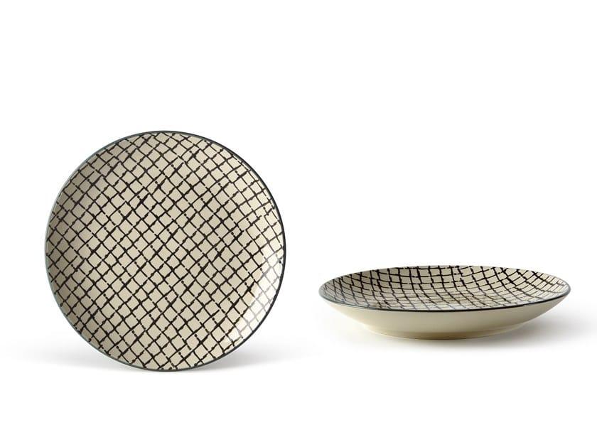 Porcelain stoneware dinner plate GEOMETRIE 4 | Dinner plate by Fill