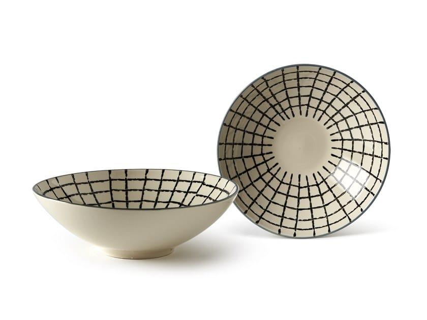 Porcelain stoneware serving bowl GEOMETRIE 4   Serving bowl by Fill