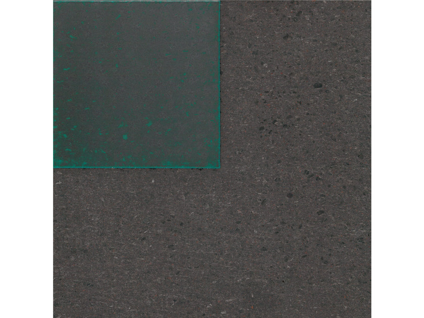 Lava stone wall/floor tiles GEOMETRIE G14 by Made a Mano