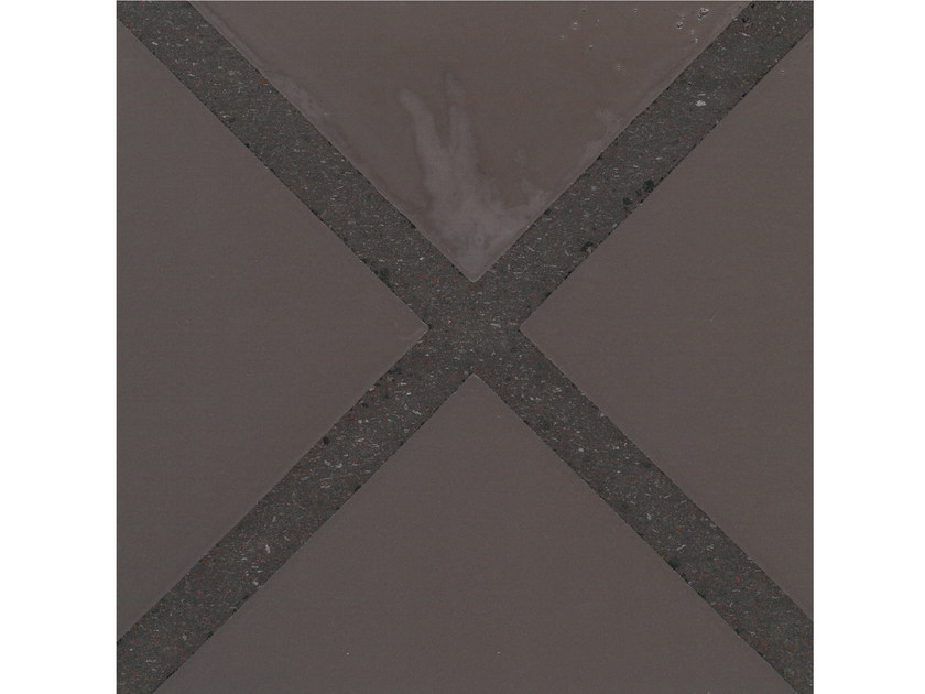 Lava stone wall/floor tiles GEOMETRIE G15 by Made a Mano