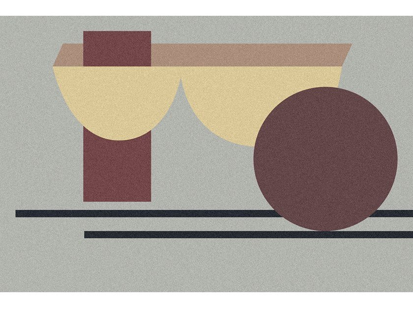 Tappeto per bagno rettangolare a motivi geometrici GEOMETRIE VOLANTI - GV132/232/332 by Antonio Lupi Design