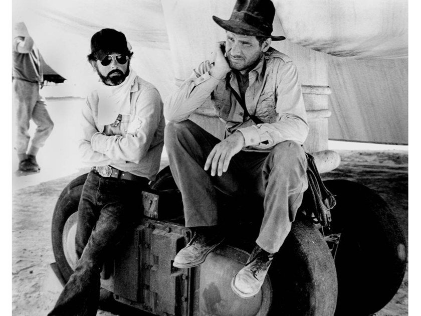 Stampa fotografica GEORGE LUCAS E HARRISON FORD by Artphotolimited