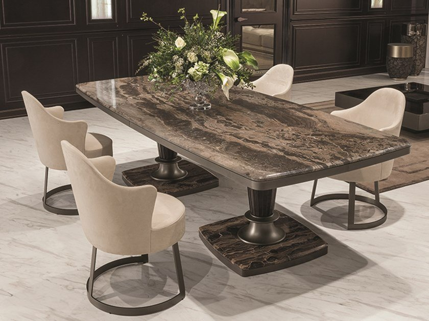 Rectangular Marble Table GEORGE | Rectangular Table By Longhi