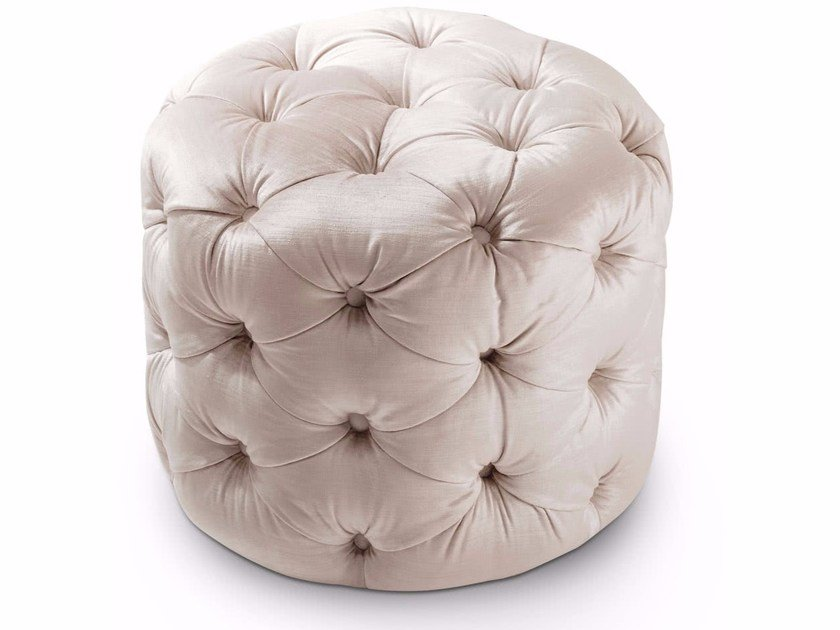 Tufted round velvet pouf GEORGE | Round pouf by Cantori