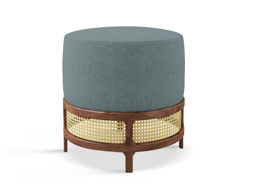 Round fabric pouf GEORGE | Pouf by Wood Tailors Club