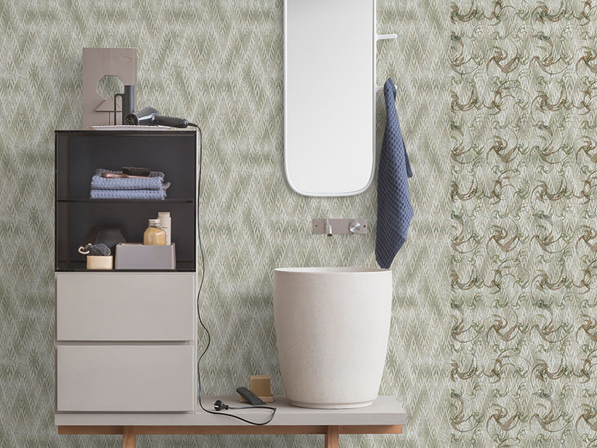Motif panoramic wallpaper GEOVERDE by Inkiostro Bianco