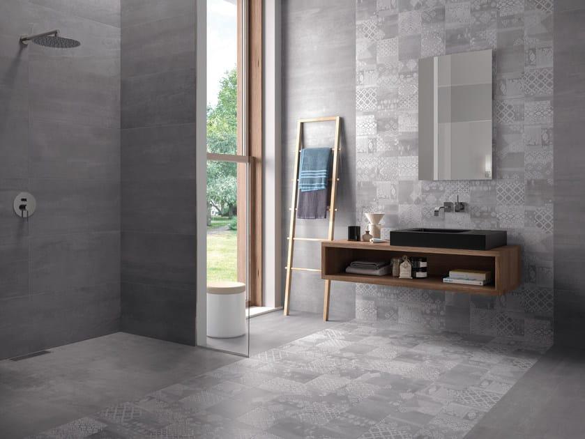 Indoor porcelain stoneware wall/floor tiles GESSO VELVET BLACK by Provenza by Emilgroup