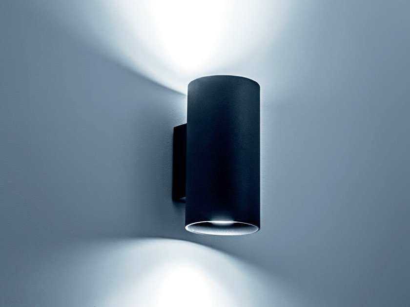 LED powder coated aluminium wall lamp GHEBI by Rossini Illuminazione