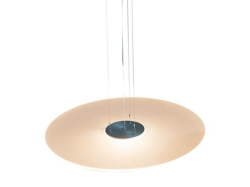 Lampada a sospensione a led in pmma ghost disc ferrolight design