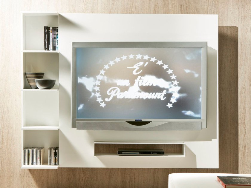 Adjustable TV cabinet with shelves GHOST by Pacini & Cappellini