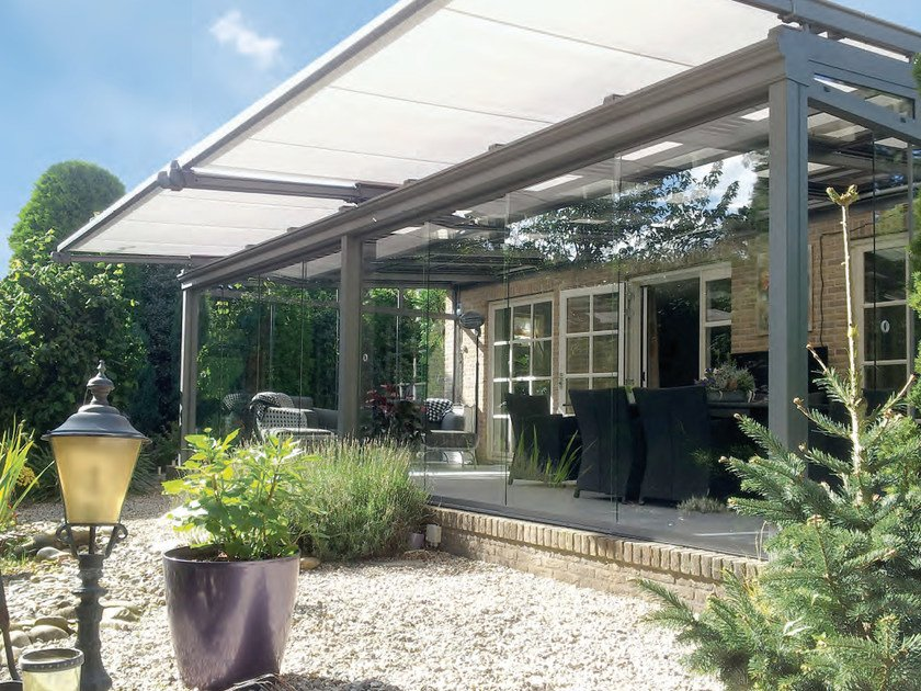 Conservatory awning with built-in lights TARGA / TARGA-PLUS by STOBAG