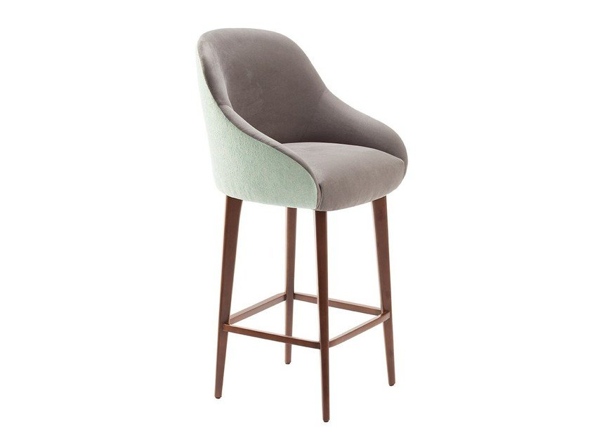 High fabric stool with back GIA | Stool with back by Mambo Unlimited Ideas