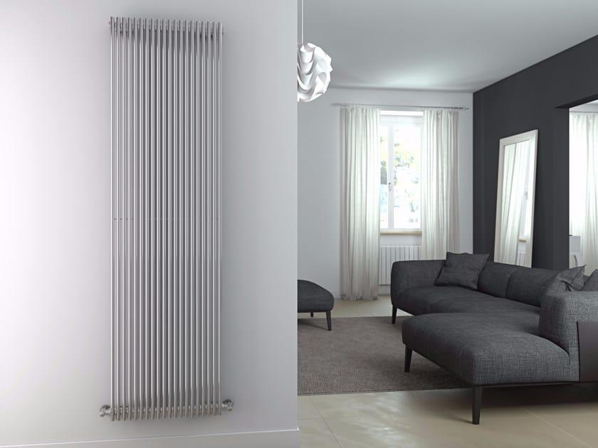 Scaldasalviette ad acqua calda verticale in acciaio lucido GIADA VT | Scaldasalviette in acciaio lucido by CORDIVARI