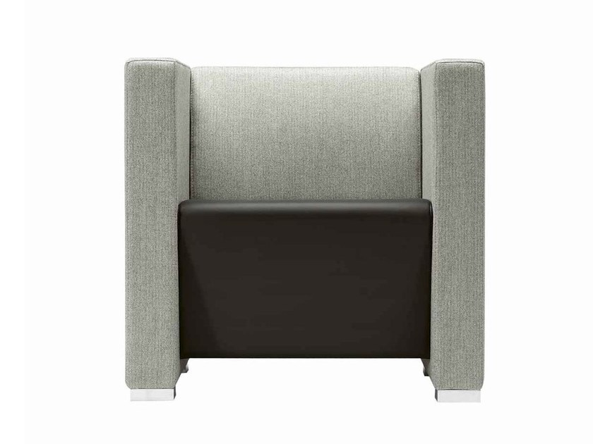 Fabric armchair with armrests Giano+ 802 by Metalmobil
