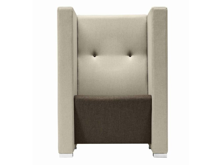 High-back fabric armchair Giano+ 805 by Metalmobil