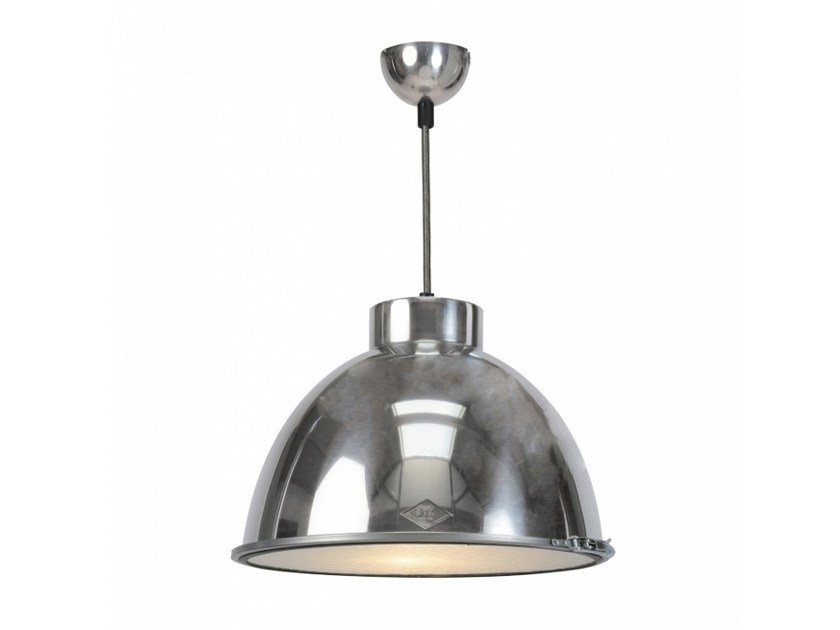 Glass and aluminium pendant lamp with dimmer GIANT 0 by Original BTC