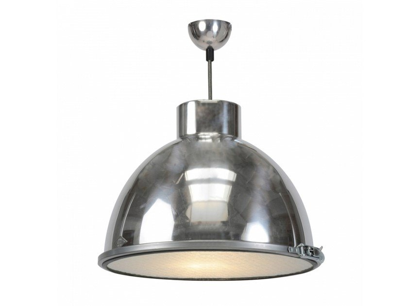Glass and aluminium pendant lamp with dimmer GIANT 1 by Original BTC