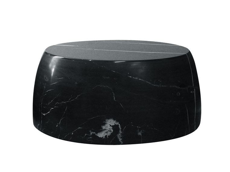 Low round marble coffee table for living room GILLES CAFFIER | Coffee table by CFOC