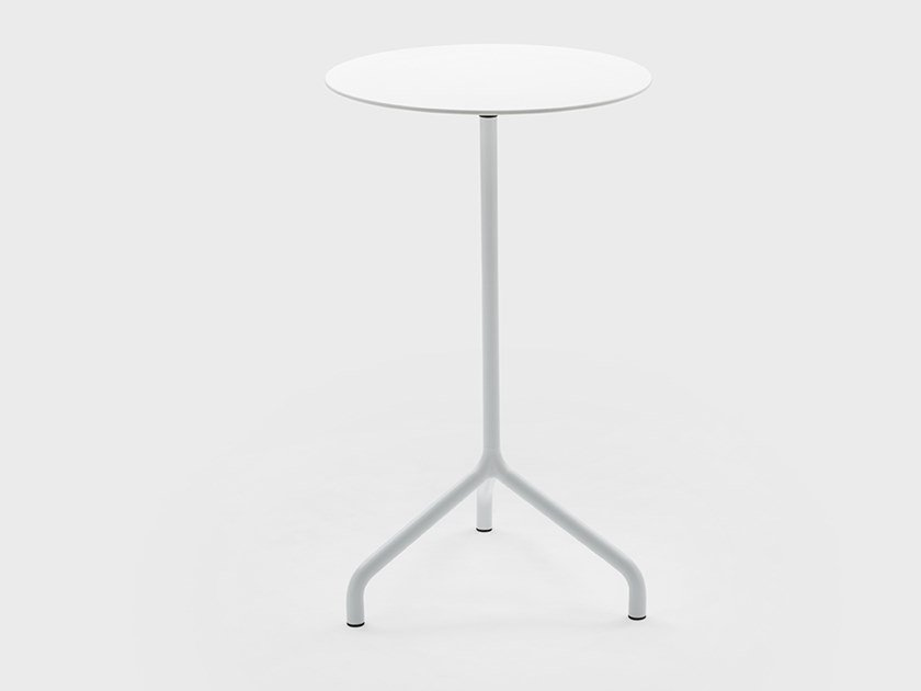 Drop-leaf metal high table GINGER | High table by Viganò