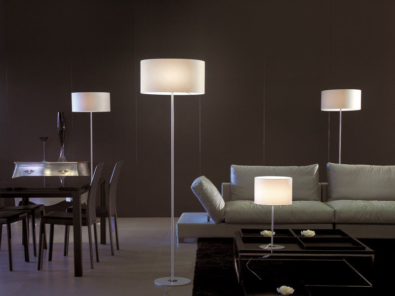 Fabric floor lamp GINGER   Floor lamp by Lucente