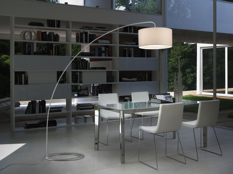 Fabric arc lamp GINGER | Arc lamp by Lucente