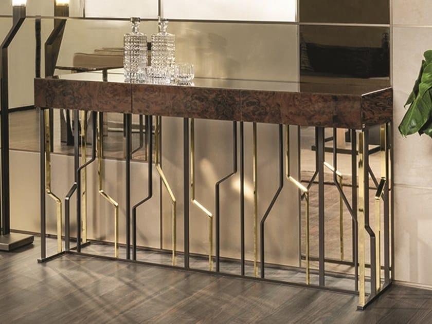Consolle rettangolare in legno con cassetti GINZA EVO | Consolle con cassetti by Longhi