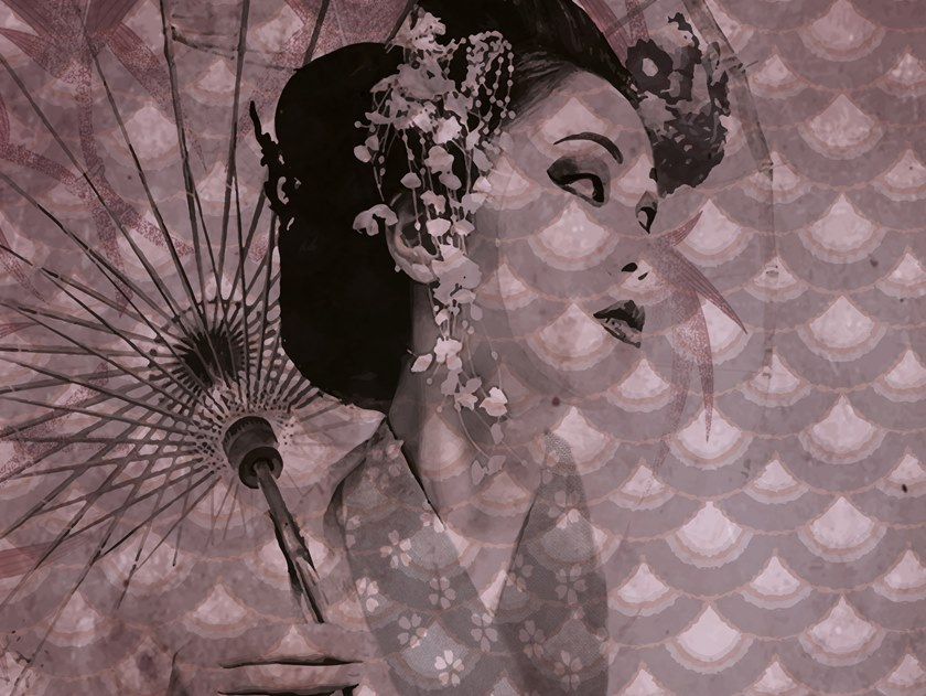 Motif vinyl wallpaper GINZA by Baboon