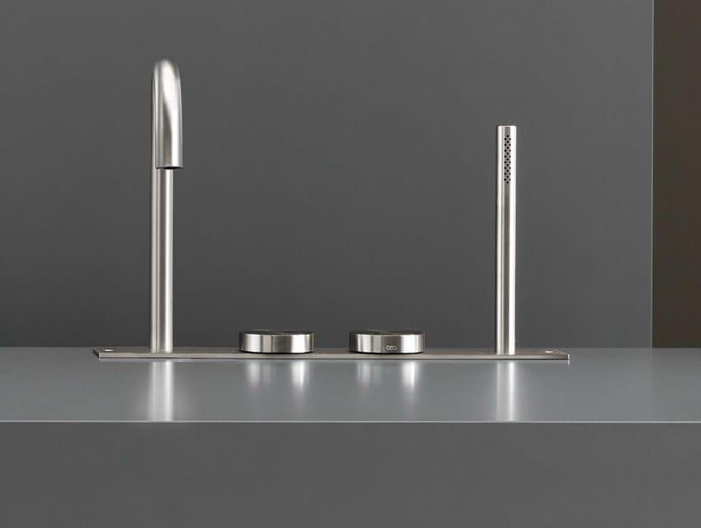 Hydroprogressive bathtub mixer with hand shower GIO 29 by Ceadesign
