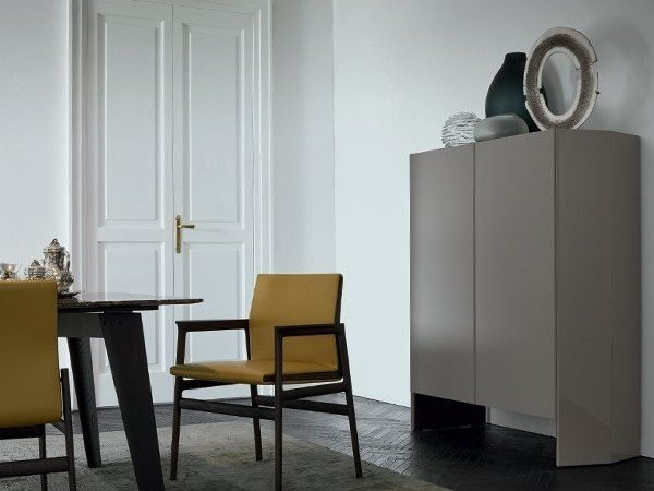 Lacquered highboard with doors GIÒ | Highboard by poliform