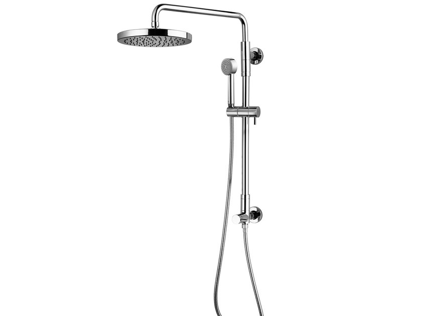 Wall-mounted shower panel with hand shower Giò Renovation - H.1215 mm by Bossini