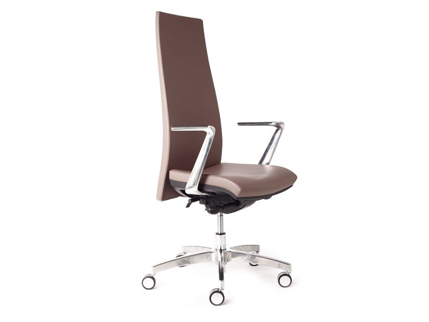 Task chair with 5-Spoke base with armrests GIOCONDA by CUF Milano