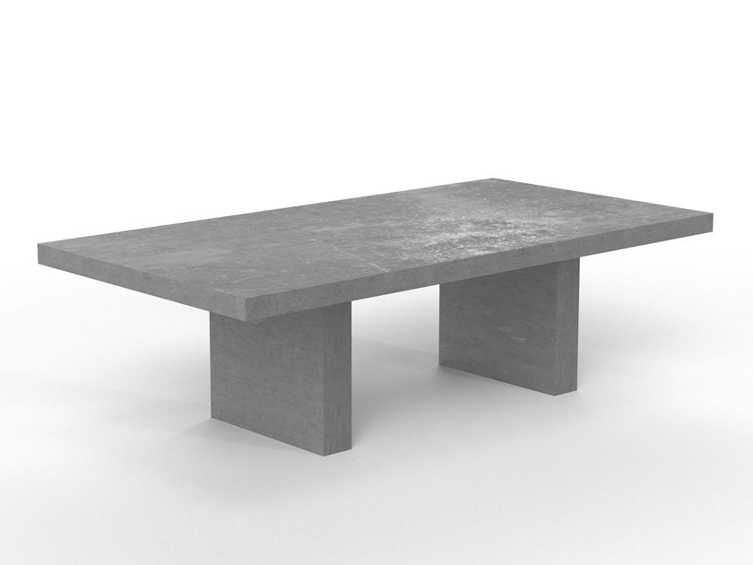 Rectangular cement table GIORGIONE by Forma&Cemento