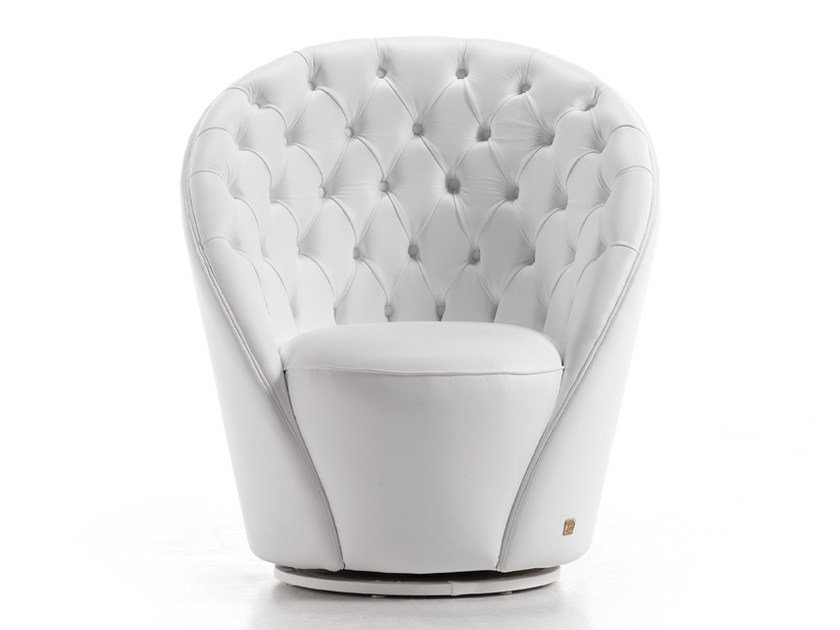 Tufted leather armchair GIOTTO   Armchair by Gold Confort