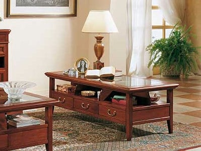 Rectangular solid wood coffee table GIOTTO   Rectangular coffee table by Arvestyle