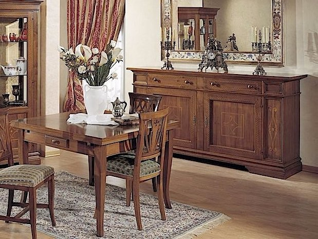 Square solid wood table GIOTTO   Extending table by Arvestyle