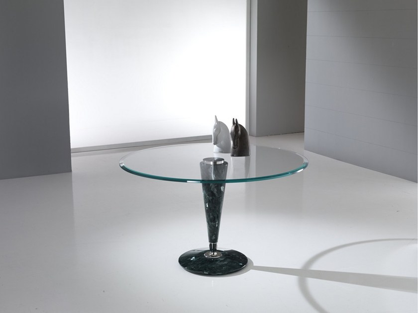 Round Crystal Stone® table GIOTTO by Crystal Stone