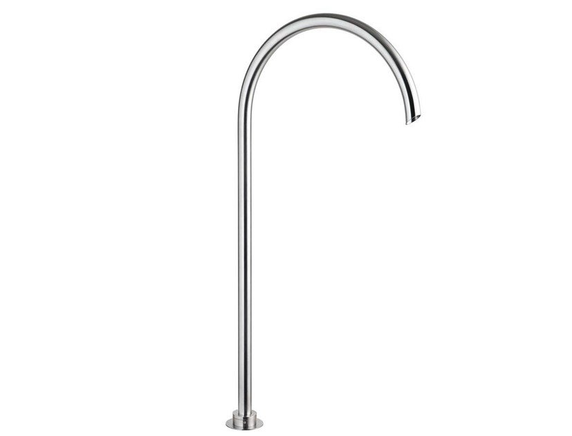 Floor standing stainless steel bathtub spout GIOTTO G29099T by MINA