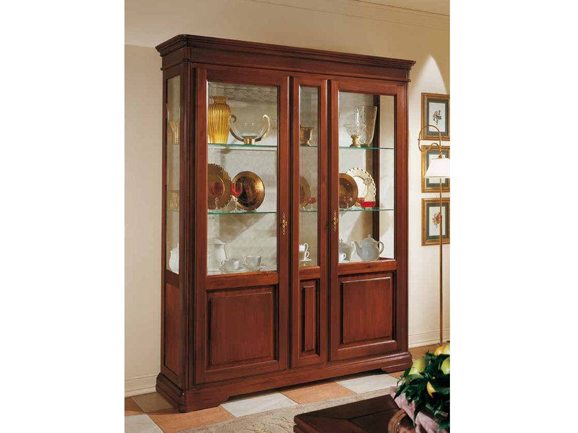 Solid Wood Display Cabinet Giotto By Arvestyle