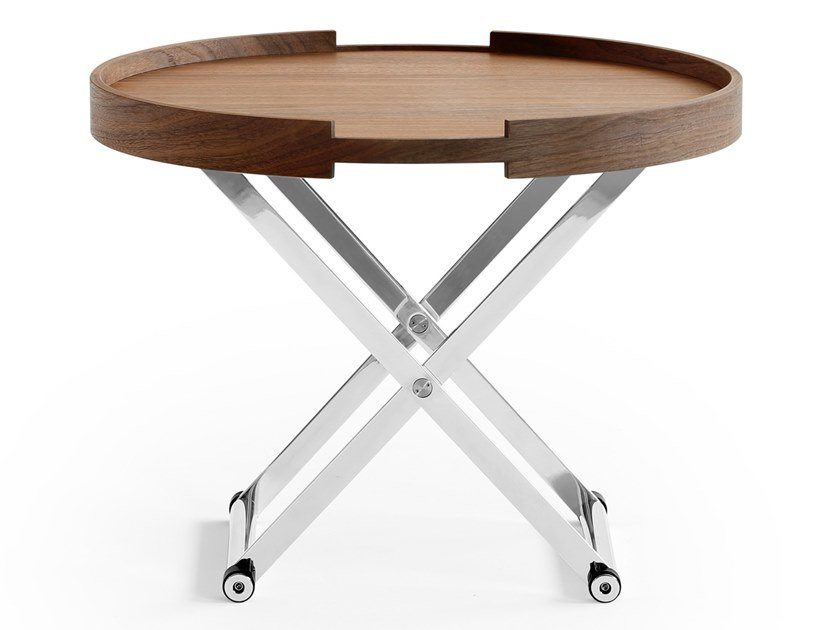 Walnut coffee table with tray GIOTTO by ManifestoDesign