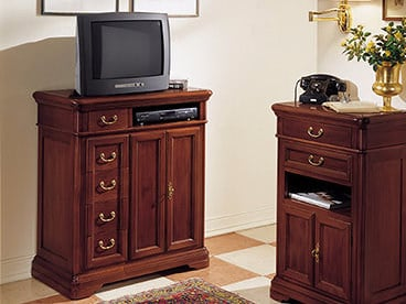 Solid wood TV cabinet with drawers GIOTTO | TV cabinet by Arvestyle