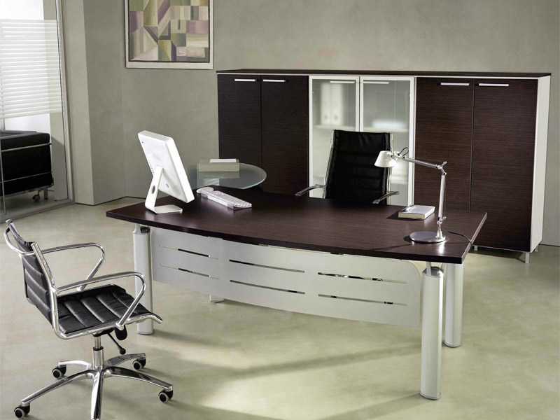 Rectangular melamine-faced chipboard office desk GIOVE G20F by Arcadia