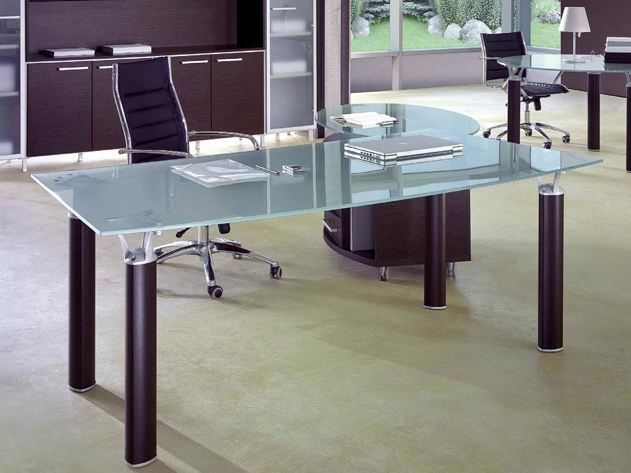 Crystal executive desk with drawers GIOVE G20VA by Arcadia