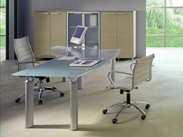 Crystal office desk GIOVE G20VP by Arcadia