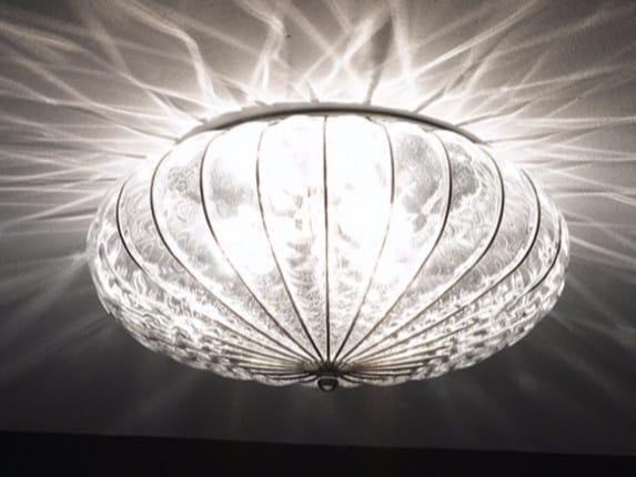 Plafoniere In Vetro Di Murano : Plafoniera in vetro di murano a luci solo braccia glass