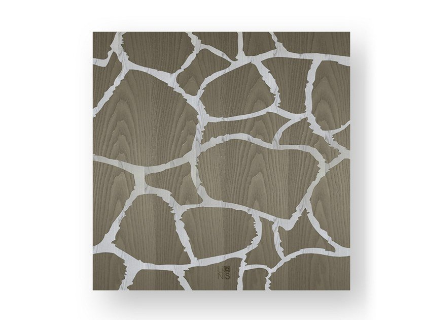 Decorative panel made of inlayed wood GIRAFFE COLD by LIGNIS®