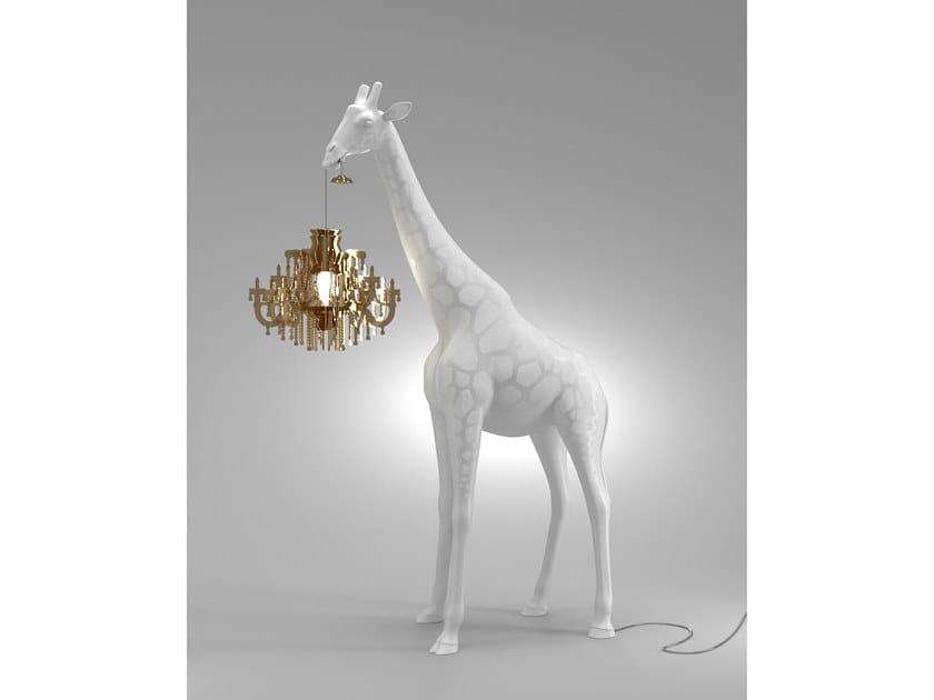 Fiberglass floor lamp GIRAFFE IN LOVE XS | Floor lamp by Qeeboo