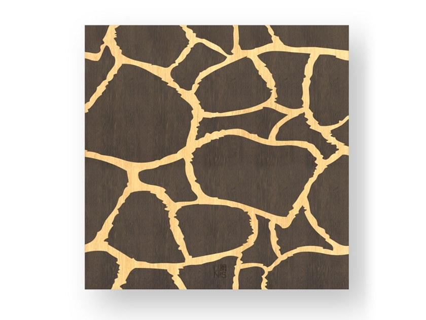 Decorative panel made of inlayed wood GIRAFFE WARM by LIGNIS®