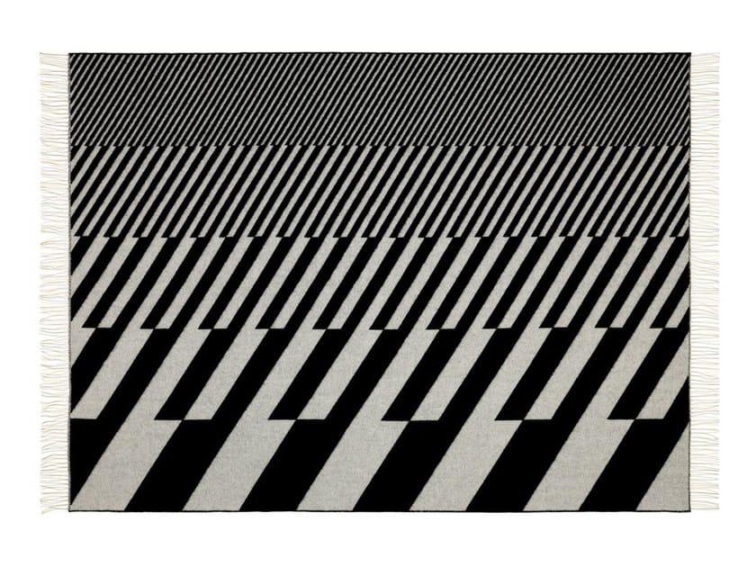 Jacquard merino wool blanket GIRARD WOOL DIAGONALS by Vitra